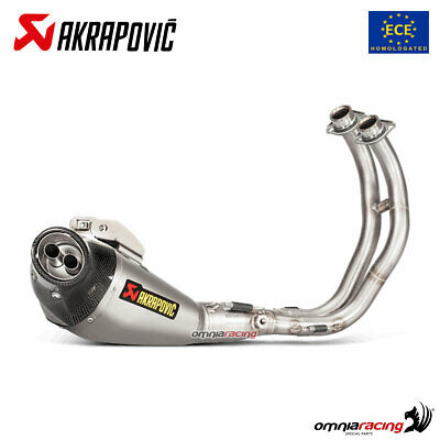 AKRAPOVIC FULL EXHAUST SYSTEM APPROVED TITANIUM FOR <em>YAMAHA</em> MT07  FZ07
