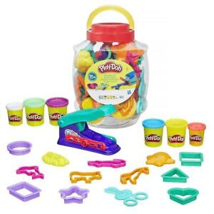 Play-Doh Big Barrel Fun Factory 6 Tubs Play Dough Playset Cutters Moulds Set