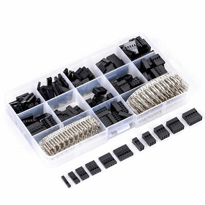 620pcs Dupont Wire Pin Header Connector Housing Kit And Mf Crimp Pins