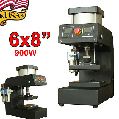 6 X 8 Pneumatic Rosin Heat Press Machine Dual Heating Elements High Pressure