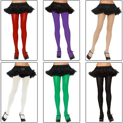 Plus Size Adult (Plus Size Nylon Spandex Tights Adult Womens Hosiery Opaque Solid)