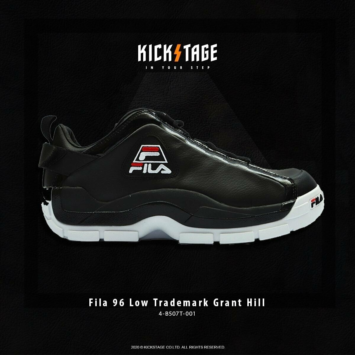Fila 96 Low Trademark Grant Hill White Navy Red Men Basketball Shoes Sneakers