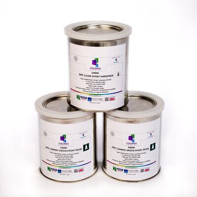 Green Epoxy Resin 100 Solids For Garage Floorplywood Concrete.3 Quart Kit