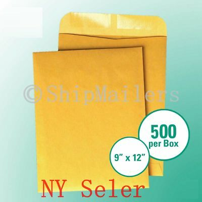1000 9x12 Kraft Catalog Seam 28lb Brown Craft Envelope Business Source