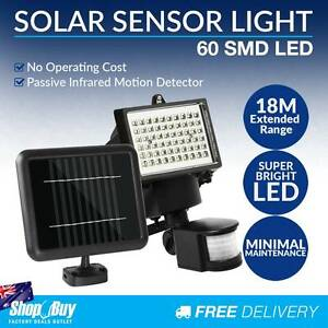 Free Delivery: 60 LED Solar Sensor Light Garden Flood Outdoor Se Moorebank Liverpool Area Preview