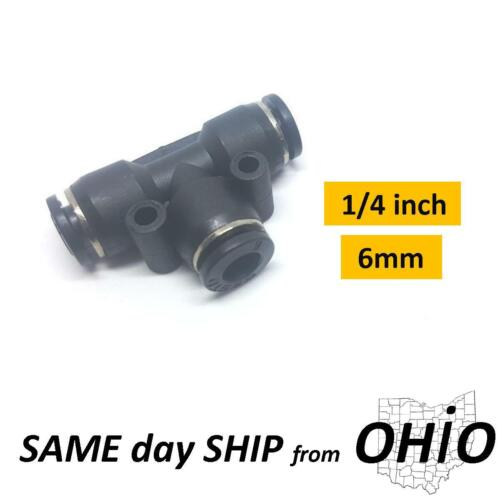 """1x """"T"""" Splice 1/4 inch Tube Pneumatic Parts Connector Air Line Fitting Adapter"""