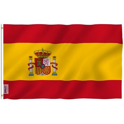 ANLEY Spain Flag Spanish National Banner Polyester 3x5 Foot Country Flags](Spanish Flags)