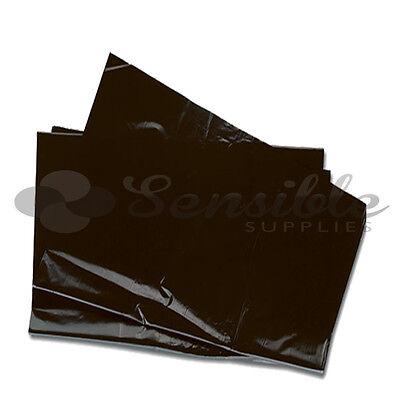 10 Heavy Duty Refuse Sacks Black Bags Bin Liner Rubbish 18