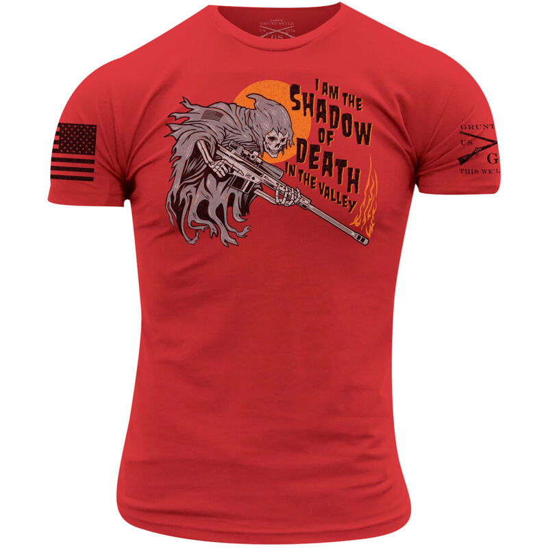 Grunt Style Shadow Of Death T-Shirt - Red
