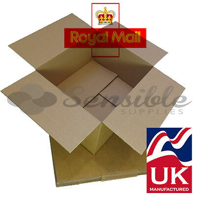 25 x ROYAL MAIL 'DEEP' MAXIMUM SIZE SMALL PARCEL CARDBOARD BOXES 350x250x160mm