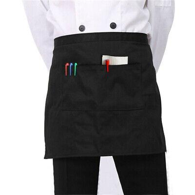 Kitchen Cotton Bow Short Half Waist Apron Bar Pub Cafe Server Waiter Waitress ()