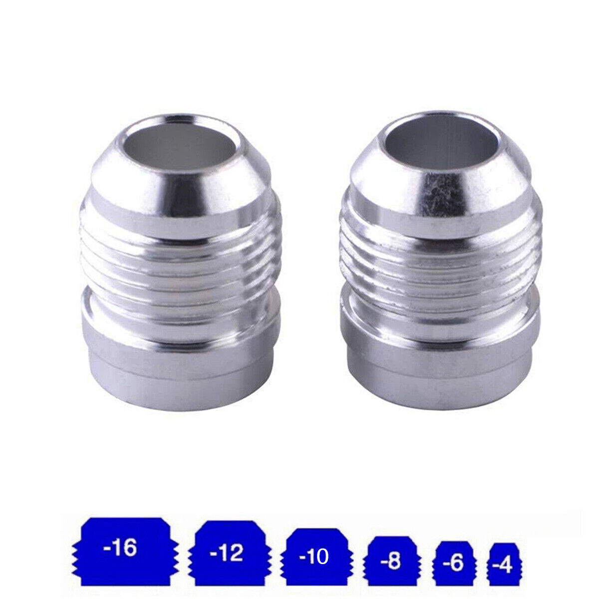 Straight -6AN Flare Male to 1/2NPT Pipe Adapter Fitting 6