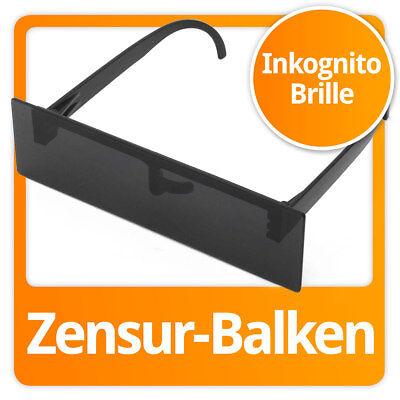 Zensurbalken Zensur Balkenbrille Zensurbrille Party Sonnenbrille Partybrille