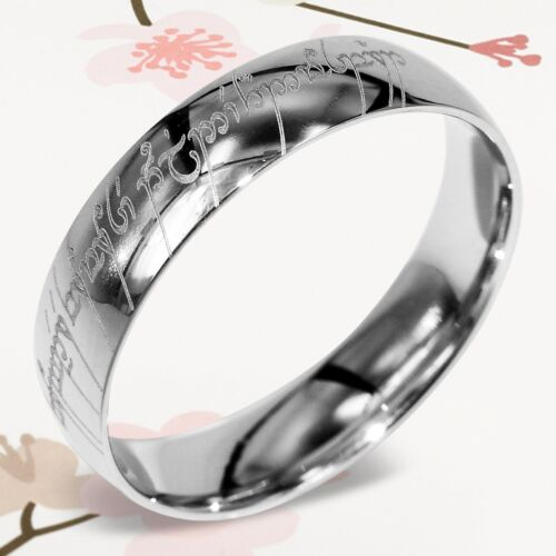 Lord Of The Rings Wedding Band.Details About Custom Lord Of The Rings Elvish Dome Men Ring Wedding Bands Titanium Rings 6m 47