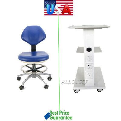 Medical Dental Trolley Built-in Socket Cartdoctor Stool Adjustable Mobile Chair