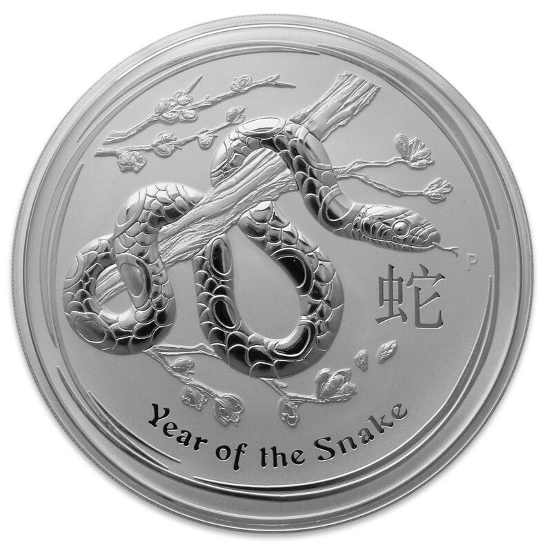 2013 Australia 1 oz Perth .999 Silver Lunar Snake (from mint roll)
