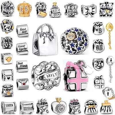 Silver Beads Birthday Party Best Gifts Fit Fashion European 925 Charm