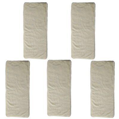 - 5 Newborn Cloth Diaper Nappies Inserts Liner Bamboo Microfiber Reusable Washable