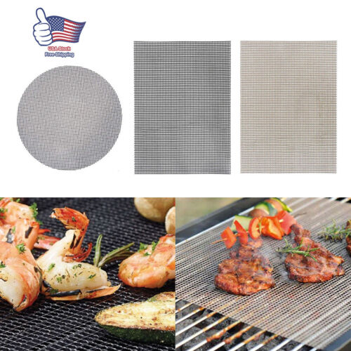 3Pcs BBQ Grill Mat Accessories Non-Stick Reusable and Heat R