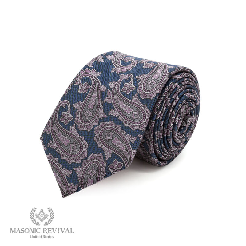 Azul Paisley™ Necktie by Masonic Revival