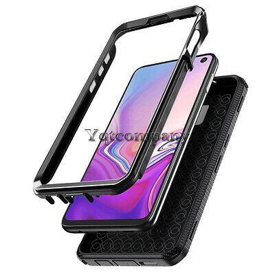 Black Shockproof Hybrid Hard Protective Case Cover For Various Mobile -