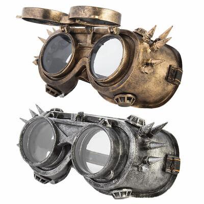 Welding Vintage Cyber Gothic Steampunk Sunglasses Rustic Punk Googles Gold (Steampunk Google)