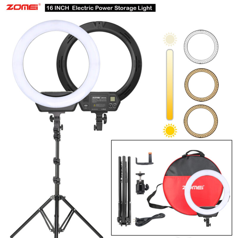 """Photography 16""""LED Ring Light 3200-5600K with Stand Kit for Youtube Makeup Video"""
