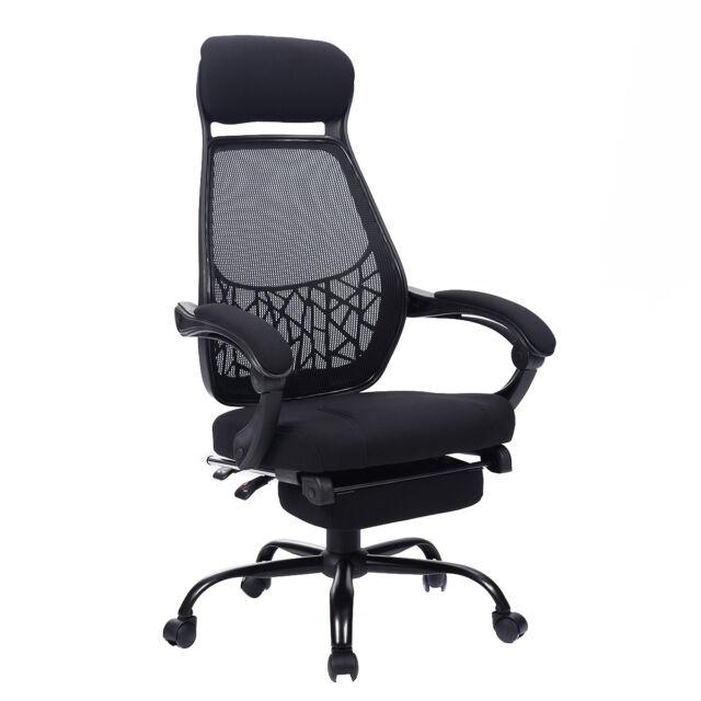 High Mesh Back Reclining Office Chair Computer Desk Task w/ Pull Out Ottoman New  sc 1 st  eBay & Giantex High Mesh Back Reclining Office Chair Computer Desk Task W ... islam-shia.org