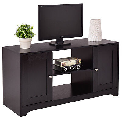 مكتبة تلفزيون جديد TV Stand Entertainment Media Center Console Storage Cabinet Wood Home Furniture