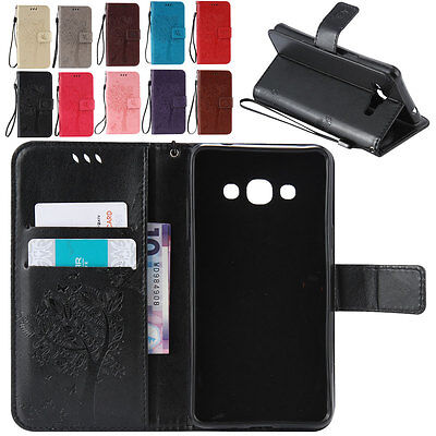 Thin Leather Shockproof Card Holder Case Cover For Samsung Galaxy Note 3 Black