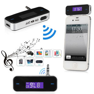 Wireless Music to Car Radio FM Transmitter For 3.5mm MP3 iPod iPhone Tablets