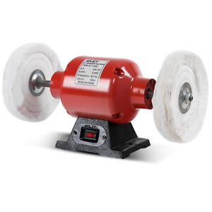 8 Inch Benchtop Buffer Polisher Grinder Heavy Duty 3/4HP With Two Buffing  Wheels