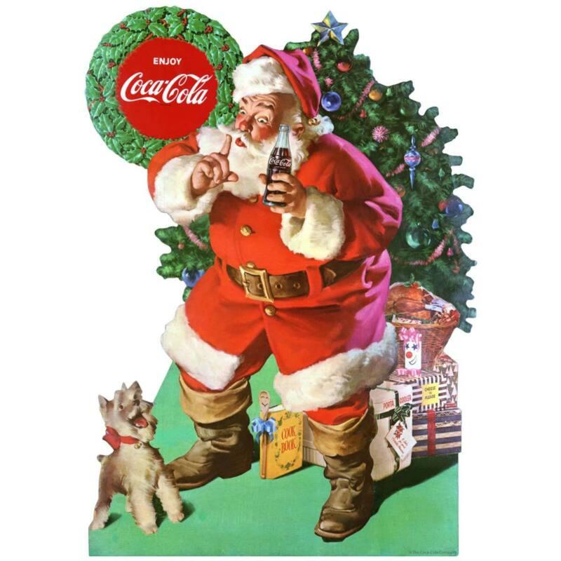 Coca-Cola Santa And Dog Decal Peel & Stick Graphic