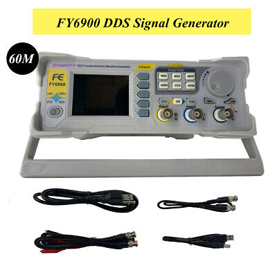 Dds Signal Generator Frequency Counter 0.01-100mhz Arbitrary Waveform Fy6900-60m