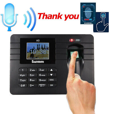 Employee Fingerprint Recorder Attendance Clock Time Card Machine 2.4 Tft