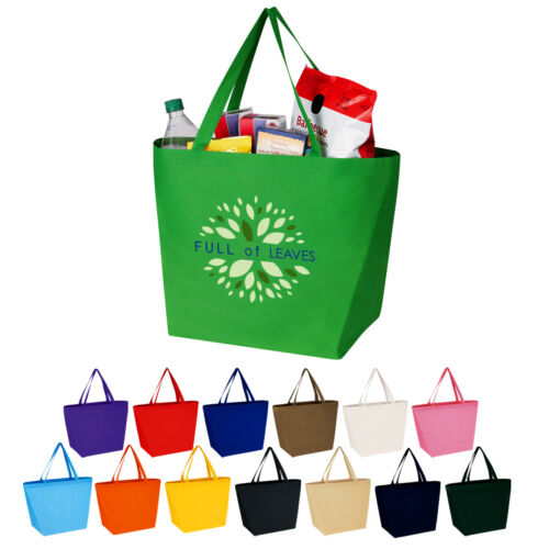 150 - Shopper Tote Bags. Custom imprinted with info/logo. Promotional give-away.