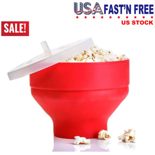 Healthy Silicone Popcorn Microwave Popper Maker Bowl Collaps