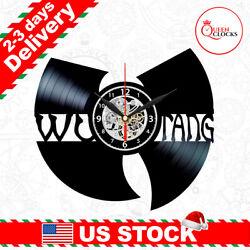 WuTang Clan LP Vinyl Record Wall Clock Wu Tang Band Fans Decor Christmas Gifts