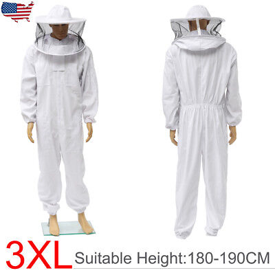 Beekeeper Protection Bee Keeping Suit Safe Veil Hat All Body Equipment Hood 3xl