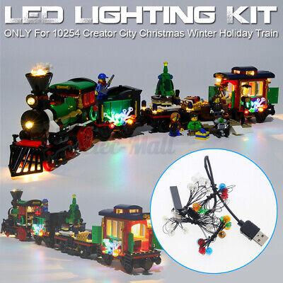 LED Lighting Kit For LEGO 10254 Creator City Christmas Winter Holiday Train