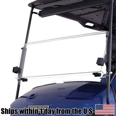 Golf Cart Clear Acrylic Foldable Flip Windshield for GMAX Yamaha 1995 & UP