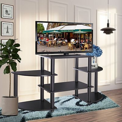 مكتبة تلفزيون جديد TV Stand Entertainment Center Media Console Storage Cabinet Furniture Home Black