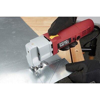 18 Gauge Heavy Duty Electric Sheet Metal Shear Tin Snips Cutter Nibbler Hardware