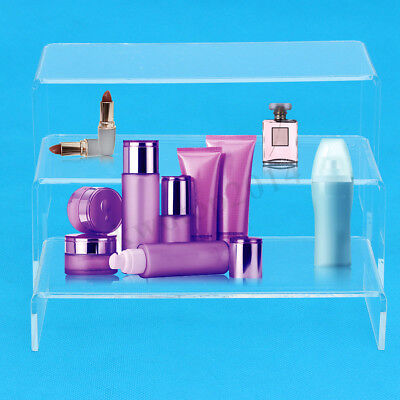 3pcs Clear Acrylic Display Showcase Stand Rack For Shoesjewelrywatchcosmetics