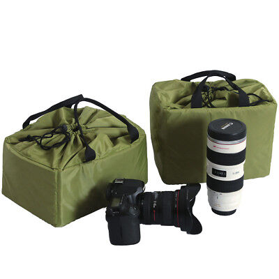 DSLR Camera Bag Insert Into Backpack Case Partition For Canon Nikon Sony Lens