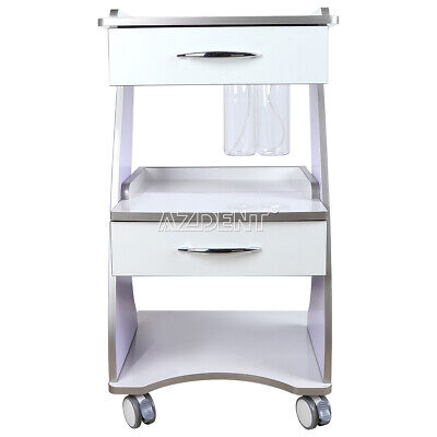Mobile Tool Cart Dental Trolley Built-in Socket With Auto-water Bottle Supply