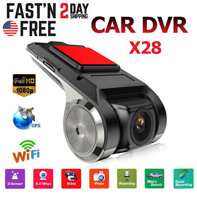 Wifi GPS Hidden Car DVR Camera Dash Cam Video Recorder Night Vision HD 1080P US