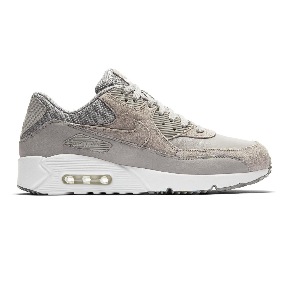 buy popular b58f5 43885 Nike Air Max 90 Ultra 2.0 Ltr Leather Dust White Grey Men Shoes ...