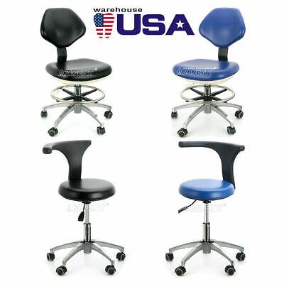 Us Dental Dentist Doctor Assistant Stool Adjustable Mobile Chair Pu Hard Leather
