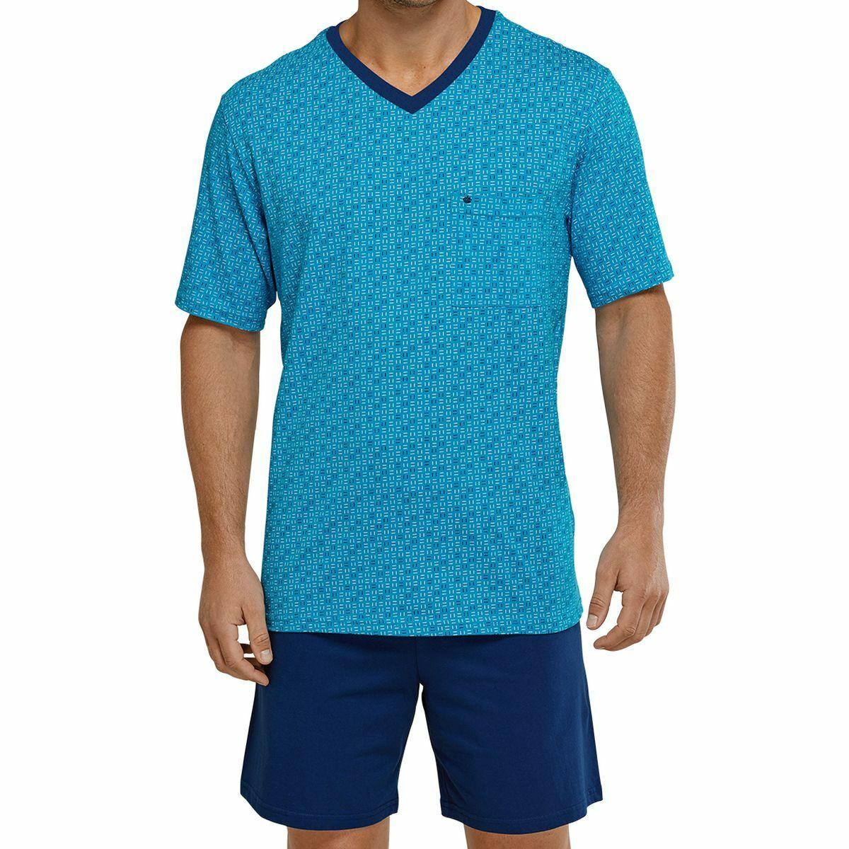 9d8bf8d3d4 Seidensticker Herren Schlafanzug kurz, Pyjama,100% Baumwolle, V-Ausschnitt,  Neu*